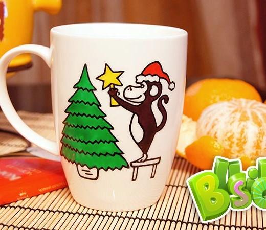 Чашка Новогодняя обезьянка