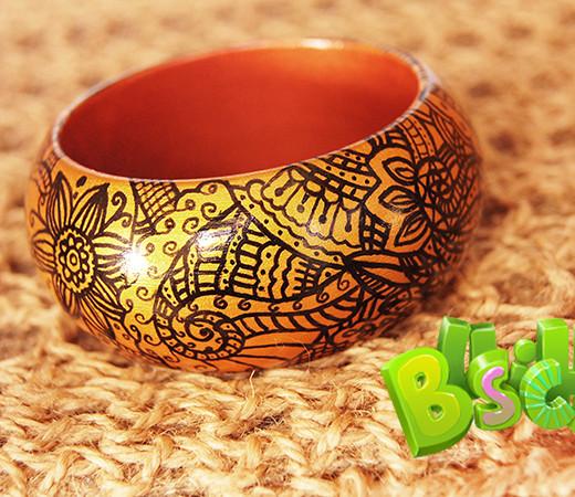 Деревянный браслет Golden