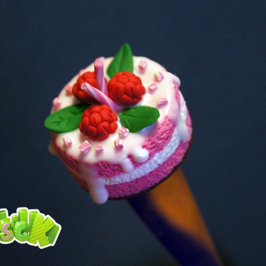 Сладкая ложечка с розовым тортиком