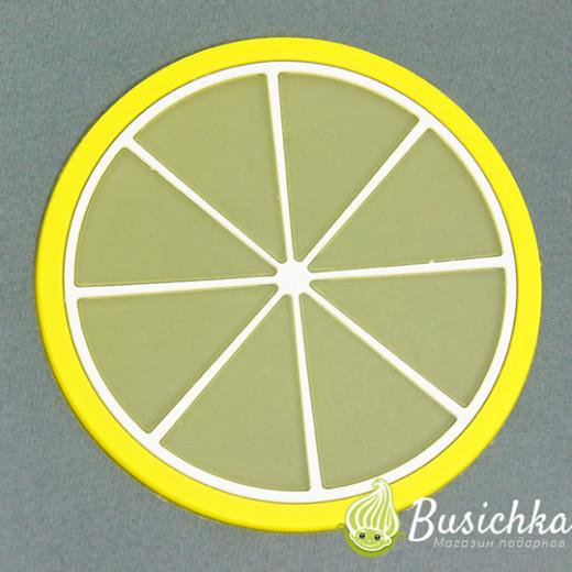 Силиконовая подставка Лимон 8 см