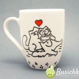 чашка о настоящей любви с котами